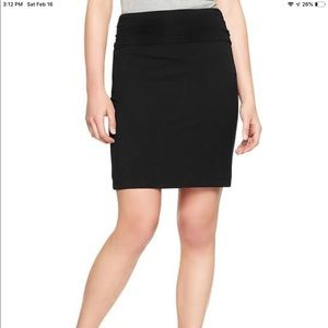 New Gap black fold over knit skirt
